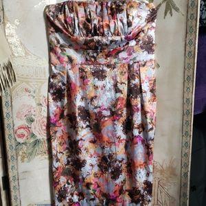 Womens strapless Spring dress.